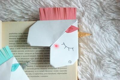 Zakładka do książki w kształcie jednorożca - instrukcja dostępna na Lubię Tworzyć ;)