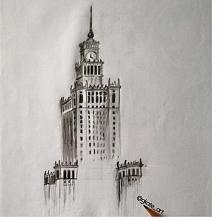 Pałac kultury i nauki w wykonaniu @gkate_art