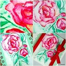 Kolejna kartka z różami :)