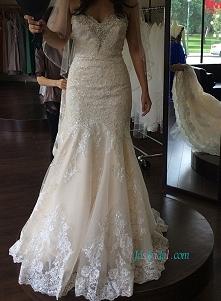Romans koronki ślubna suknia ślubna