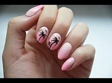 Paznokcie na lato!Palmy, ombre gąbeczką i efekt szronu. Na kanale nowy film jak zrobić takie paznokcie, kliknijcie w zdjęcie :)