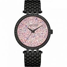 Caravelle 45L164 stylowy zegarek kobiecy ze stali szlachetnej w kolorze czarn...