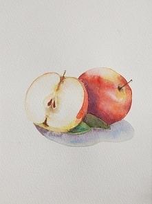 Akwarela Jabłka