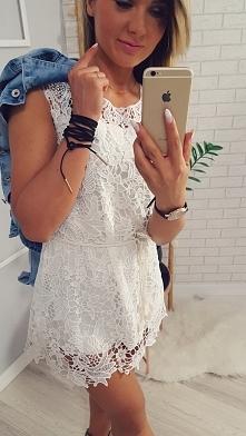 Sukienka z koronkowej gipiury dostępna link pod zdjęciem :)