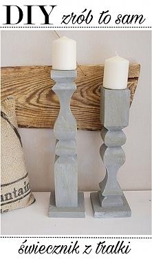 DIY - świecznik z tralki