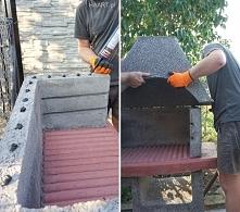 Montaż betonowego grilla HA...