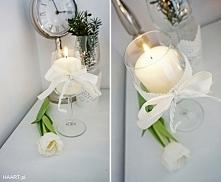 Dekoracyjne świeczniki z kieliszków. Opis na HAART.pl  DIY zrób to sam