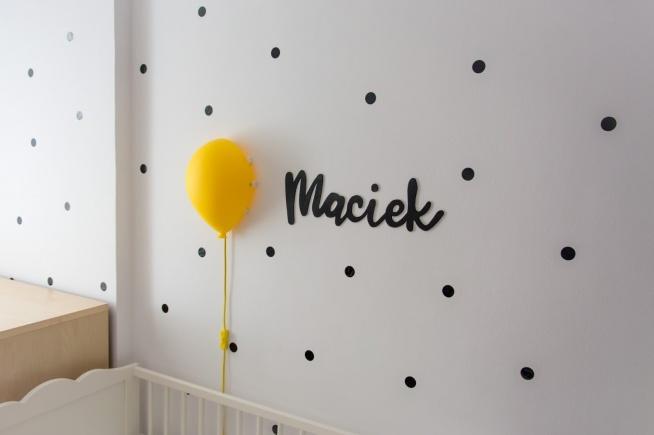 DIY imię dziecka nad łóżeczko :)