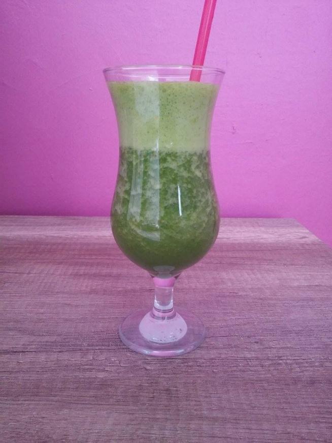 Dzisiaj śniadanie w formie płynnej :) Zielone warzywa i owoce na dobry początek dnia! :D