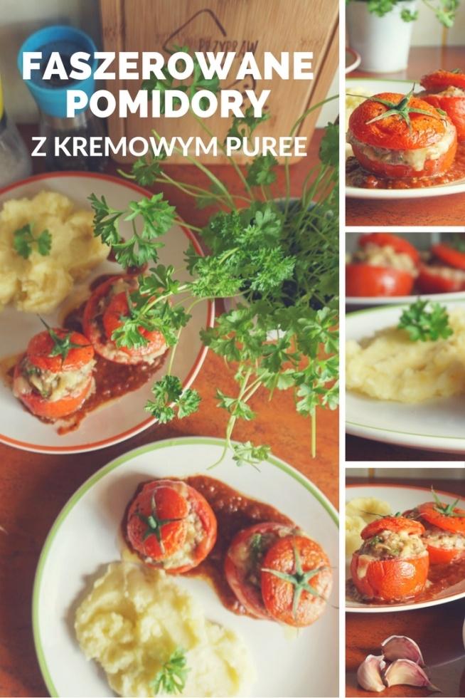 Pomysł na obiad: Przepis na faszerowane pomidory z kremowym puree  origamifrog.pl