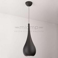 Lampa wisząca DROP - dostępna w =mlamp=  Prezentowane oświetlenie posiada bardzo interesującą formę, która swoim kształtem przypomina kroplę. Lampa przez swój  design i czarną k...