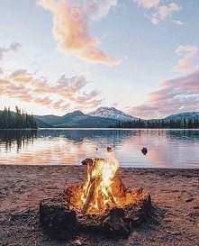 Lake and fire...