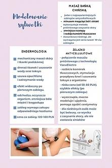 Piękne i szczupłe ciało można osiągnąć przy pomocy profesjonalnych zabiegów k...