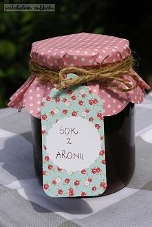 Domowy sok z aronii.