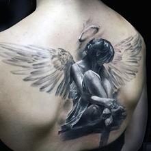 incredible angel tattoo 3d