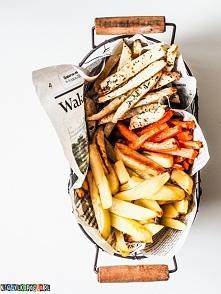 Frytki z warzyw pieczone w piekarniku, przepis po kliknięciu w zdjęcie