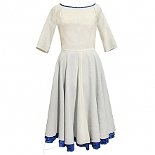 Sukienka wełniana ecru i ch...
