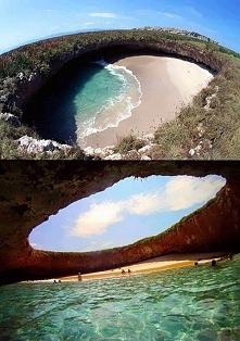 Ukryta plaża na wyspie Marieta.