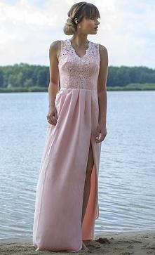 Zjawiskowa suknia maxi z ko...