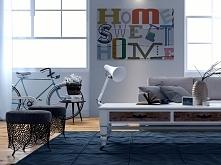 Sweet home - nowoczesny obraz na płótnie