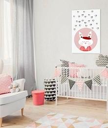 Urocza dekoracja z króliczkiem do pokoju dziecka