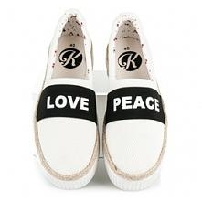 Espadryle LOVE&PEACE :)