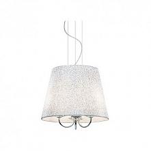 LE ROY SP3  IDEAL LUX LAMPA WISZACA     LE ROY - lampa wisząca w eleganckiej, klasycznej stylistyce. Konstrukcja z chromowanego metalu. Lampę zdobią elementy z ciętego kryształu...