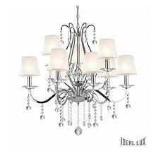 SENIX SP9 IDEAL LUX LAMPA WISZACA     SENIX - klasyczna lampa wisząca, kandelabr, wykonany z chromowanych  części ze szklanymi elementami odbijającymi światło. Lampa pasujaca do...