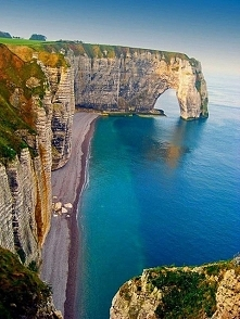 Klify morskie w Etretat - Francja