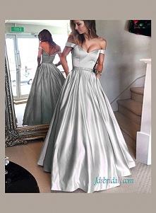 szary kolor bal ślubnej sukni