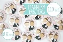 Magnesy z młodą parą jako podziękowania dla gości weselnych - możecie być pew...