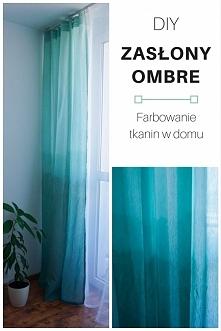 DIY Zasłony ombre - farbowanie tkanin w domu • origamifrog.pl