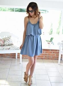 Sukienka SHARON niebieska. Ottanta - sklep online