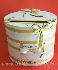 pudełko na koperty z życzeniami, ślub