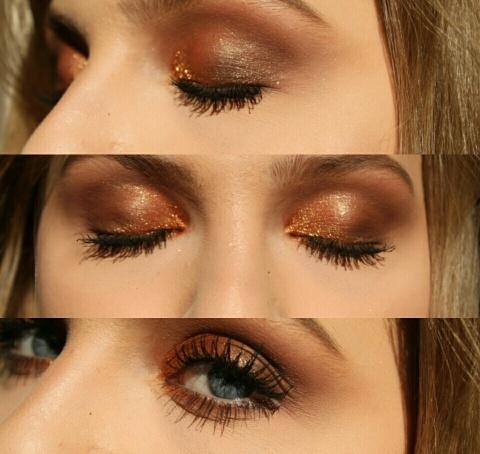 zbliżenie na dzisiejszy makijaz oka :) pigment i cień z inglota.