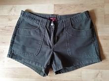 Shorty khaki H&M rozmiar 40 100% bawełna TAAAANIO!!! obwód w pasie 86, sz...