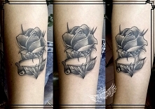 new school rose tattoo