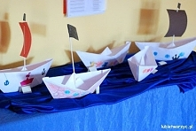 Giga statki origami w wykon...