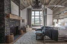 Ski-in/ski-out chalet in Montana with rustic-modern styling.