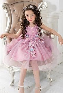 Wrzosowa sukienka tiulowa, ...
