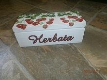 Pudełko na herbatę truskawkowe