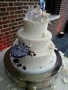 tak będzie wyglądał mój tort ślubny ♡