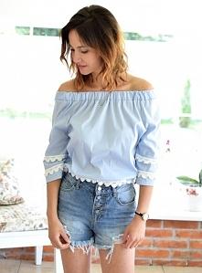 Bluzka LARISSA błękit. Ottanta - sklep online