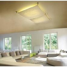 70 x 70 cm VER X1  plafon     Niespotykana oprawa sufitowa, plafon z abażurem z materiału satynowego rozpietego na  czterech metalowych wspornikach. Oprawa na świetlówkę energoo...