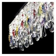 GIADA COLOR  SB7 099170 IDEAL LUX LAMPA WISZĄCA  Giada to seria kryształowych lamp włoskiej firmy Ideal Lux.  Klosze tworzą łańcuszki i wisiorki wykonane z przezroczystych i kol...