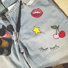 pomalowane, stare spodnie d...