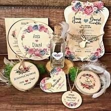 Zaproszenia ślubne na drewnie *_*