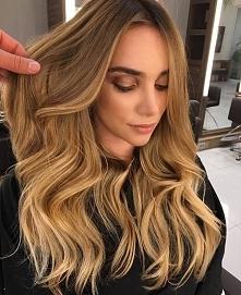 sombre na długich włosach