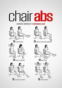 Ćwiczenia abs z krzesłem