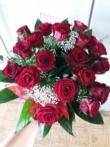 Takie piękne różyczki dostałam ♡♡♡
